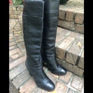 Michael Kors gorgeous leather tooled high boots